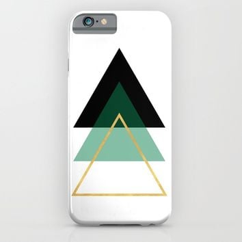 GEOMETRIC ABSTRACT HOLLOW PYRAMIDS TRIANGLE iPhone & iPod Case by deificus Art