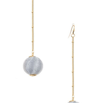 Single Ball Drop Earrings