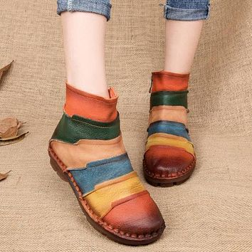 Retro Genuine Leather Vintage Casual Boots