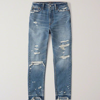 Womens High Rise Mom Jeans | Womens Bottoms | Abercrombie.com