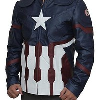 Captain America Civil War Steve Rogers Synthetic Leather Jacket - Best Deal.....