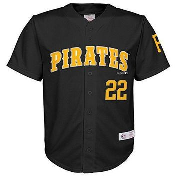 Mlb Pittsburgh Pirates Boys Player Mccutchen Fashion Jersey Black 4/5