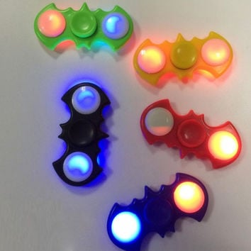 Rotation time 60-90 seconds LED Batman Hand Finger Fidget Spiner Plastic EDC For Autism and ADHD Hand Spinner Board Game