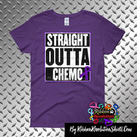 Pancreatic Cancer Straight Outta Chemo Shirts (Black, Sports Grey, White and Purple)