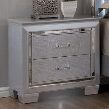 Bellanova Contemporary Night Stand In Silver