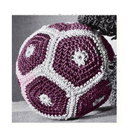 Vintage Crochet Pattern-70s Crochet Baby Girl Soccer Ball- Football -StuffedToy -Toddlers Chidren-Vintage Plush Toy- Baby Girl Toy - Vtg-DIY