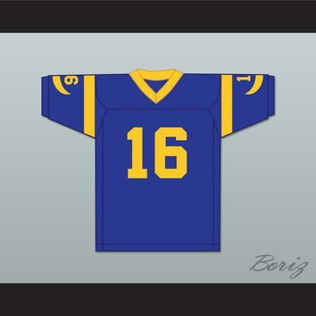 Joe Pendleton 16 Pro Career Blue Football Jersey Heaven Can Wait