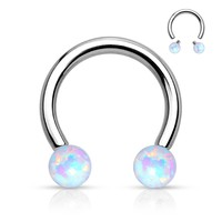 Synthetic Opal Circular Barbell