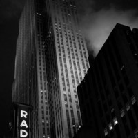 New York City Urban Photography - Radio City Music Hall - Black and White Travel Photograph - CUSTOM SIZES