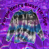 Purple Berry Blast Sweatshirt Tie Dye Hoodie Womens Mens Gym Clothing Snowboard Skateboard Tumblr Adidas Gift For Him Festival Outfit Goa