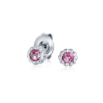 Bling Jewelry Pink October Studs