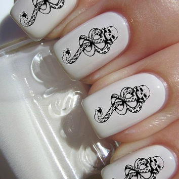Dark Mark Harry Potter nail decals tattoos nail art