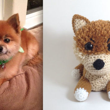 Big Custom Stuffed Animal Crochet Dog Amigurumi Dog Dog Doll Choose a Breed / Made to Order