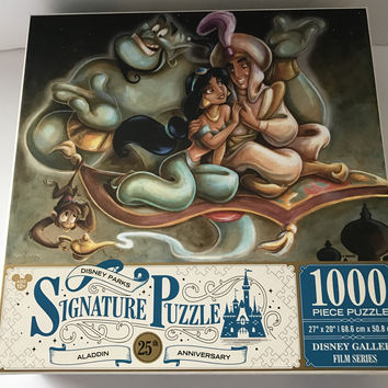 Disney Parks Signature Puzzle 25th Aladdin 1000 pcs Puzzle New Box
