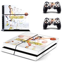 Stephen Curry Vinyl Skin Sticker for PS4 Sony Playstation 4 Console + Controller