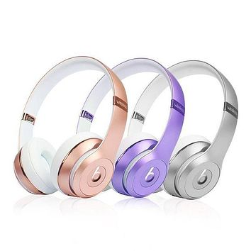 Beats Solo 3 Wireless Magic Sound Bluetooth Wireless Hands Headset MP3 Music Headphone with Microphone Line-in Socket TF Card Slot For Women Men Couple I