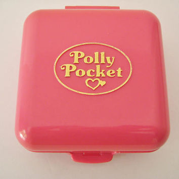 Vintage Polly Pocket Partytime Surprise Polly's Birthday Party Compact 1989 Bluebird Miniature Toy Clean NO Figures Incomplete USED