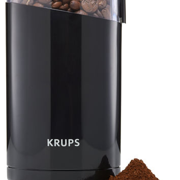 KRUPS F203 Electric Spice and Coffee Grinder with Stainless Steel Blades 3-Ounce Black