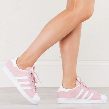 Adidas Superstar Sneakers in Pastel Pink