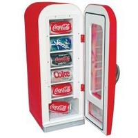 Koolatron Retro Coca-Cola 10-Can-Capacity Vending Fridge