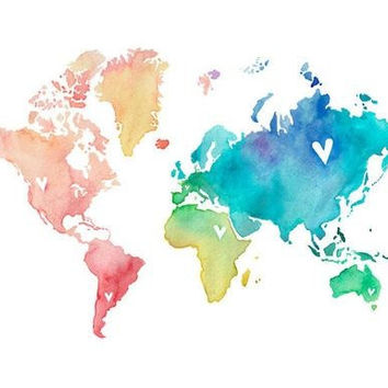 Shop map tattoo on wanelo colorful world map temporary tattoo gumiabroncs Gallery
