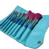 9 Piece Cosmetic Brush Set - Pink Luxury Brushes - Professional Case/Pouch Organizer - Great for Gifts - Best Make Up Kits For An Artist Like You - Perfect For A Makeover - On Sale - Limited Quantity -