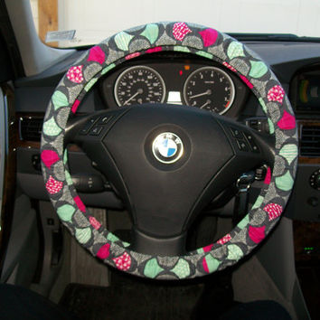 Organic Grey Steering Wheel Cover