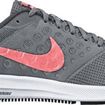 NIKE WOMENS DOWNSHIFTER 7 COOL GREY/LAVA GLOW/DARK GREY RUNNING SHOE 9 WOMEN US