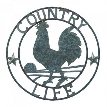 Country Life Metal Rooster Wall Décor