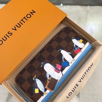 Kuyou Lv Louis Vuitton Gb19710 N64426 Penguin Print In The Wallet 19.5 X 9 X 1.5cm