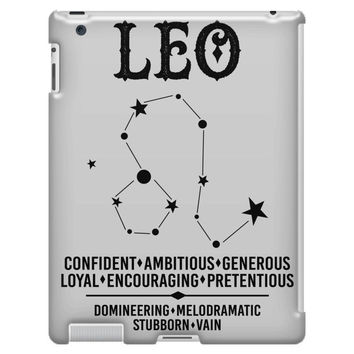 Leo Zodiac Sign iPad 3/4 Case