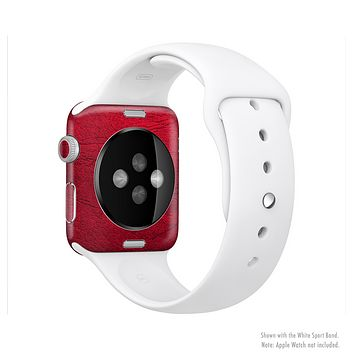 The Rich Red Leather Full-Body Skin Set for the Apple Watch