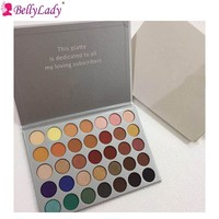 BellyLady 35 Colors Cosmetic Eyeshadow Pallete Matte & Shimmer Waterproof Long-lasting Eyeshadow Pallete