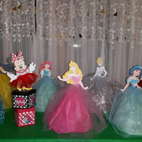 Character doll centerpieces, fairytale princess, winter, mouse, snow, frozen, mermaid, decorations, ice queen, snow queen,woodland princess