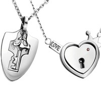 Couples' Heart & Key Necklaces
