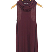 Carine Cowl Neck Trapeze Dress