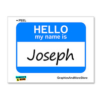 Joseph Hello My Name Is Sticker