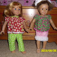 PDF Doll Clothes Sewing Pattern for 18 inch Doll.  Easy Directions.  Made for the Younger child to  be able to handle.