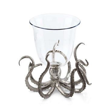 Octopus Glass Ice Bucket