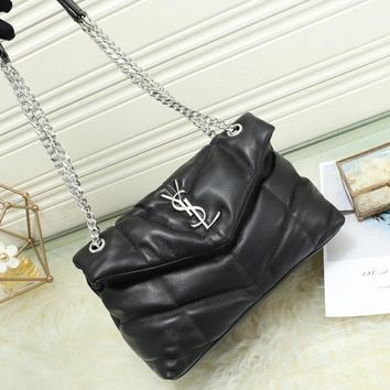 Kuyou Gb99822 Saint Laurent Ysl 577476 Loulou Puffer Small Bag In Quilted Lambskin 27x17x11cm