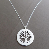 Tree of Life in Outer Circle Pendant, Mothers Day Gift