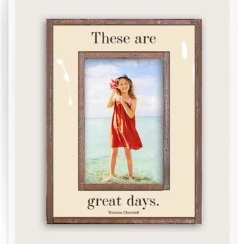 These Are Great Days Copper & Glass Photo Frame