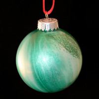 Hand Painted Christmas Glass OrnamentLarge by TheCraftRainbow