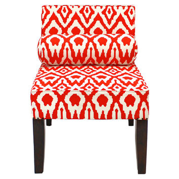 Isabelle Ikat Accent Chair, Tangerine, Accent & Occasional Chairs