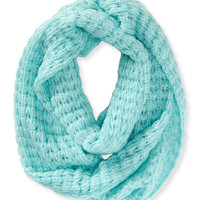 Solid Chunky Knit Infinity Scarf
