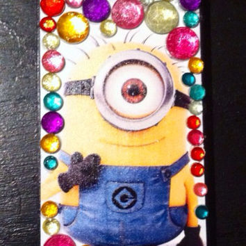 Bedazzled iphone 5 minion case