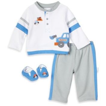 Vitamins Baby-boys Newborn Work Zone 2 Piece Pant Set and Shoe
