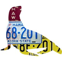 Hawaii License Plate Hawaiian Monk Seal