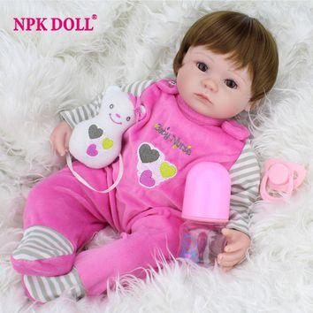 40cm Silicone Reborn Baby Doll kids Playmate Gift For Girls 16 Inch Baby