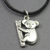 Koala Charm on an Adjustable Choker Necklace